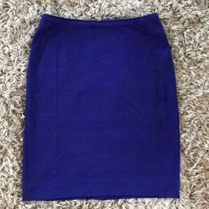 Blue stretchy office skirt